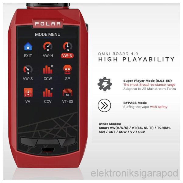 Vaporesso Polar Kırmızı Renk Elektronik Sigara Ekranı